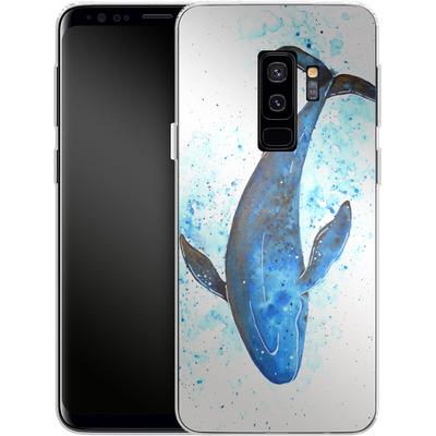 Samsung Galaxy S9 Plus Silikon Handyhuelle - Whale Dive von Becky Starsmore