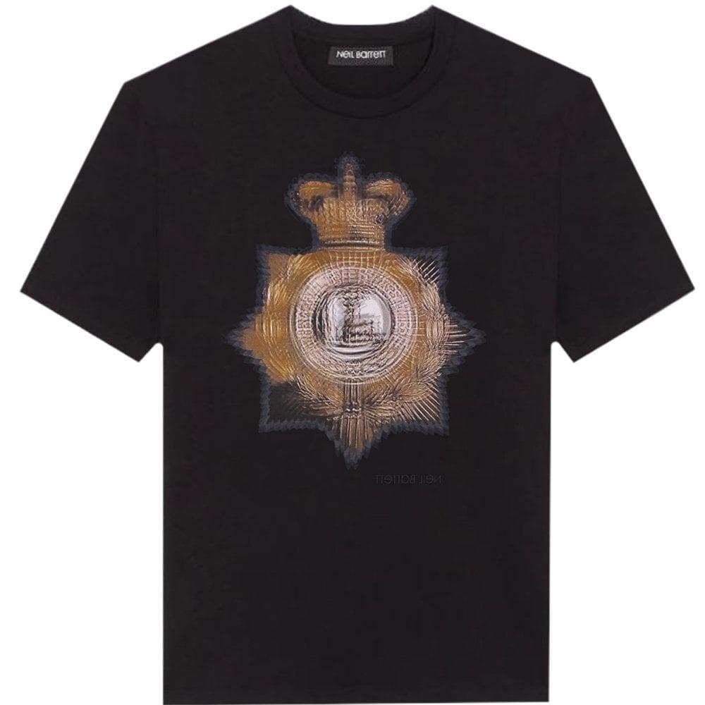 Neil Barrett Graphic Print T-Shirt Black  Colour: BLACK, Size: SMALL