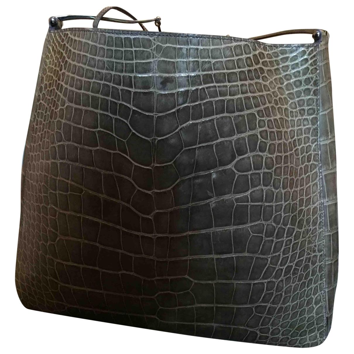 Gucci \N Handtasche in  Beige Aligator