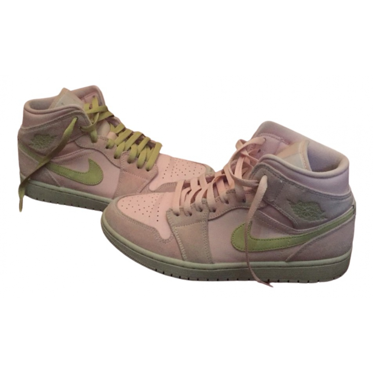 Jordan Air Jordan 1  Pink Leather Trainers for Men 42 EU