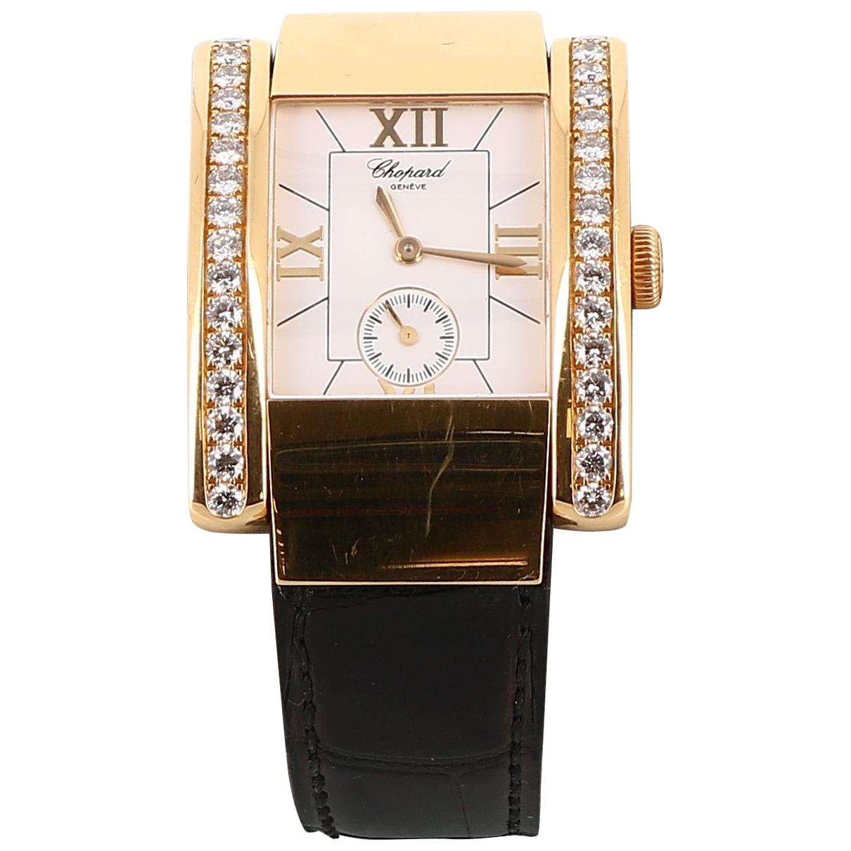 Chopard \N Uhr in  Schwarz Gelbgold