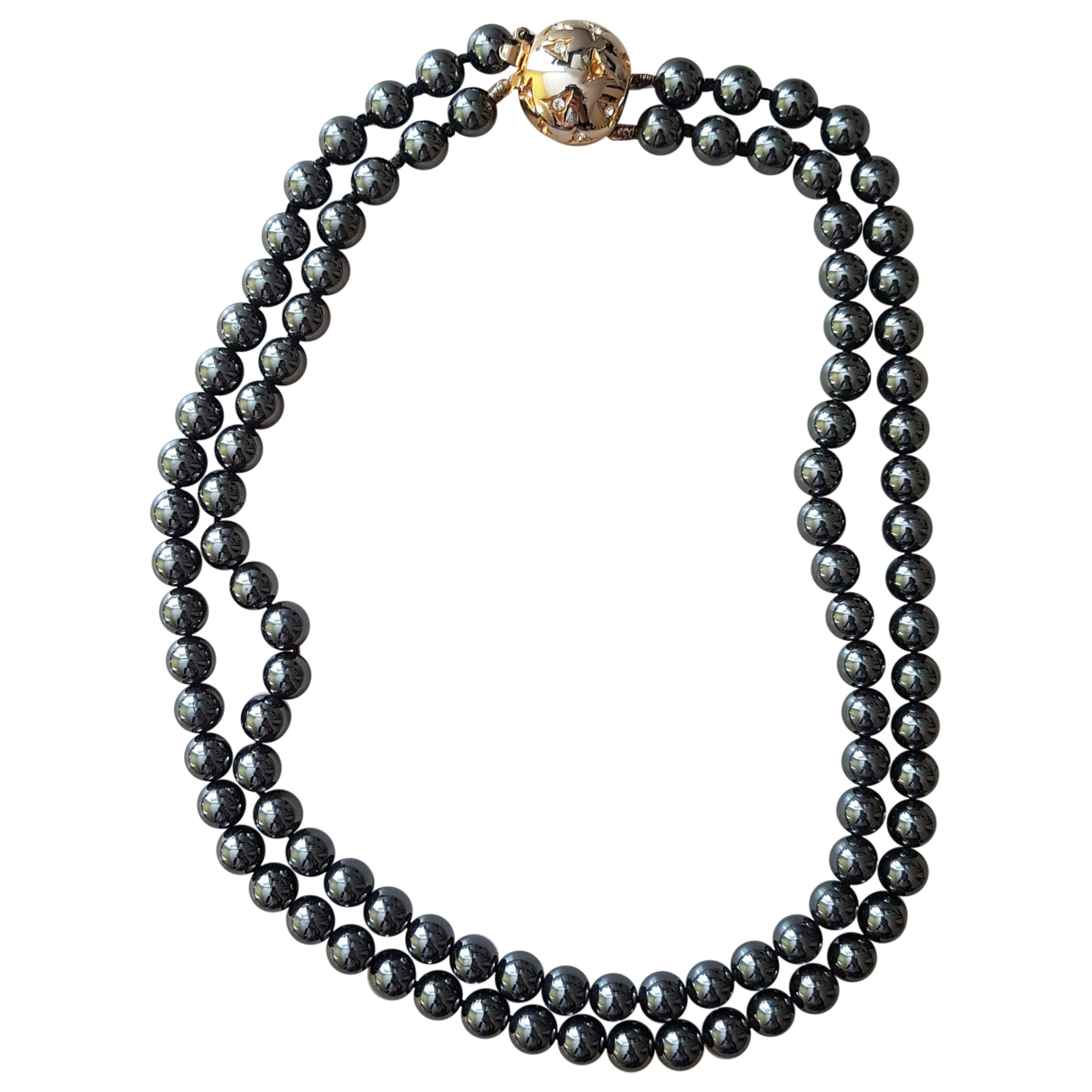 Non Signé / Unsigned \N Grey necklace for Women \N