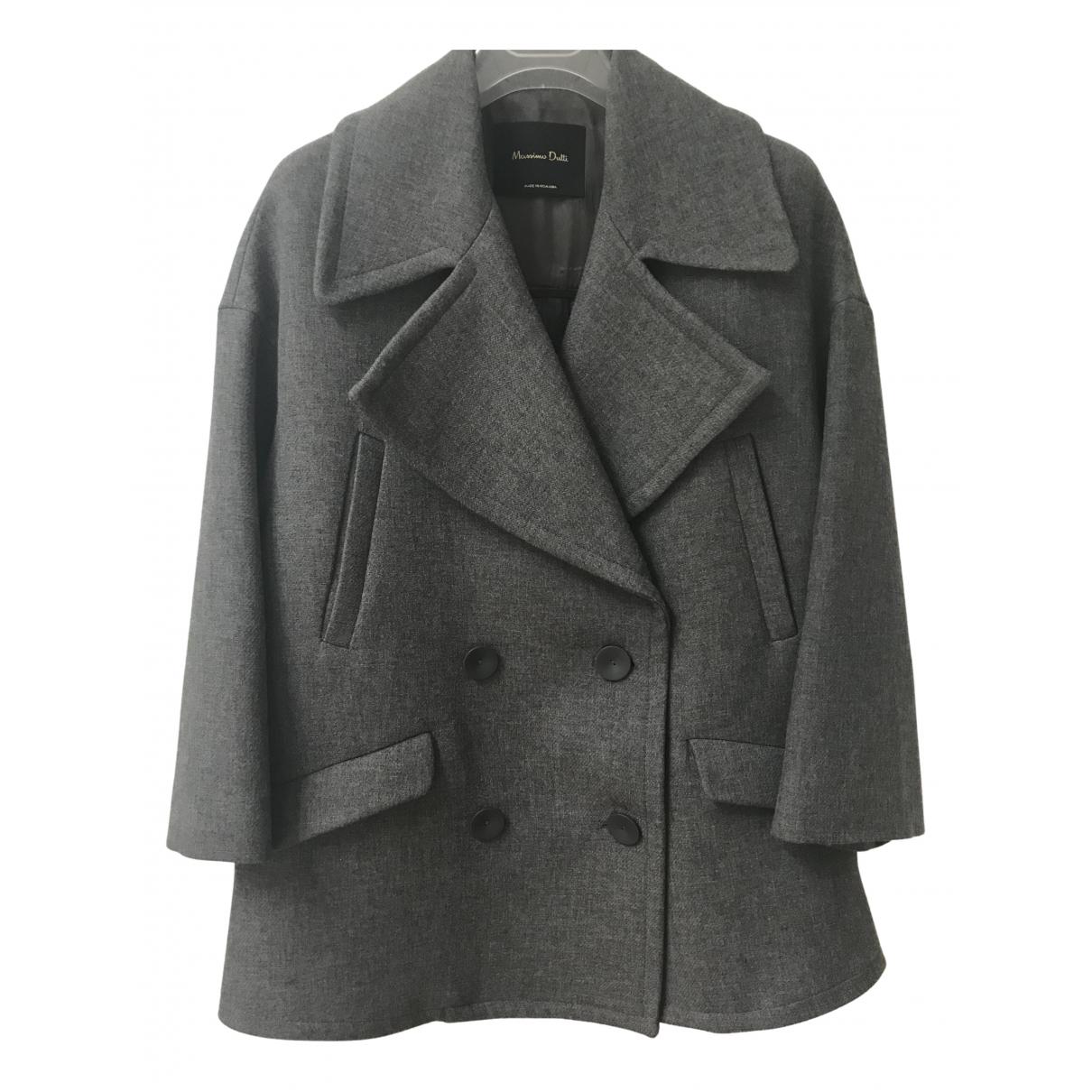 Massimo Dutti \N Jacke in  Grau Viskose