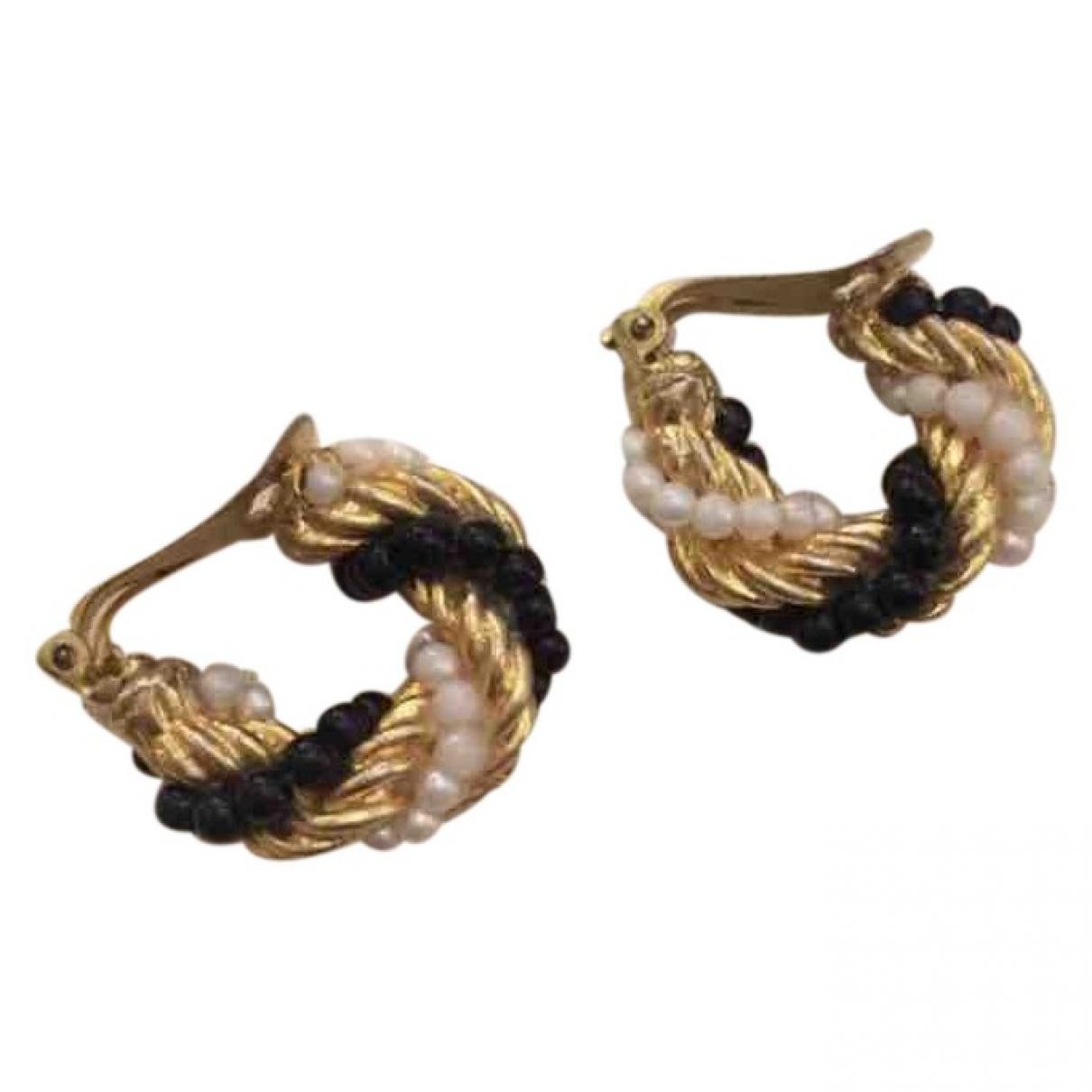 - Boucles doreilles Creoles pour femme en metal - dore