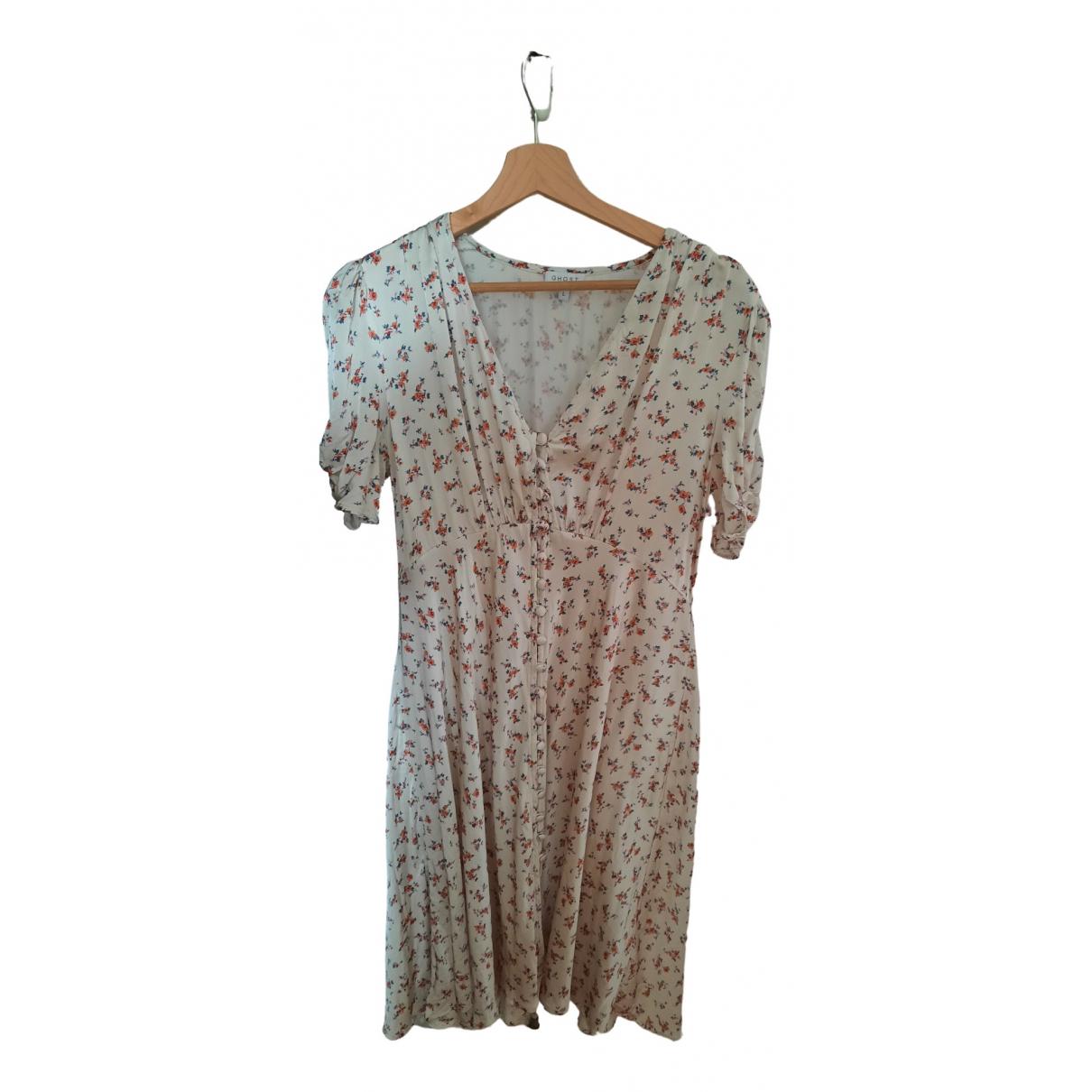 Ghost London \N Kleid in  Beige Viskose