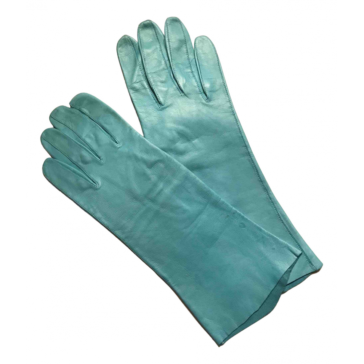 Non Signé / Unsigned \N Turquoise Leather Gloves for Women S International