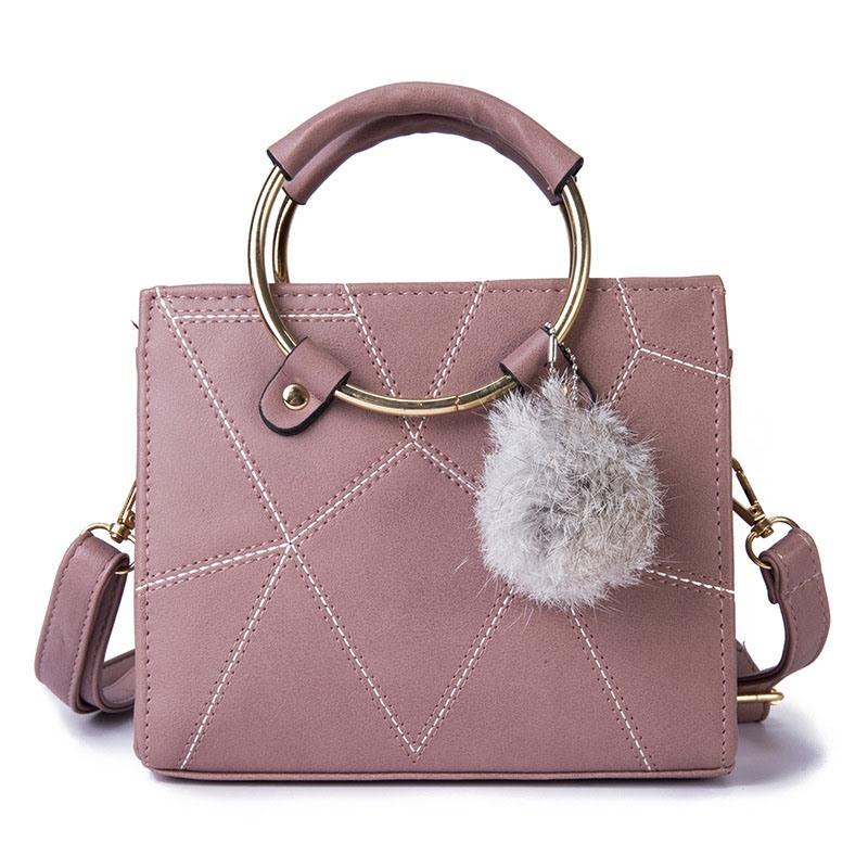 Ericdress PU Plain Square Tote Bags