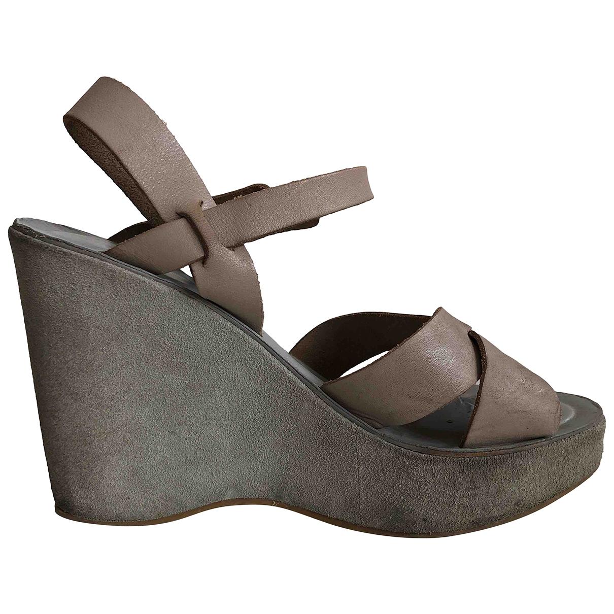 Kork Ease - Sandales   pour femme en cuir - gris