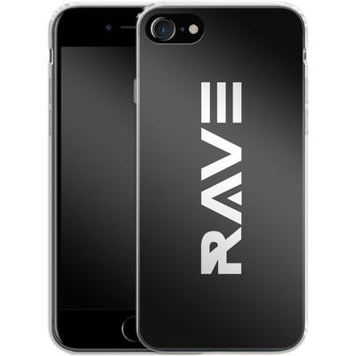 Apple iPhone 8 Silikon Handyhuelle - RAVE von Berlin Techno Collective