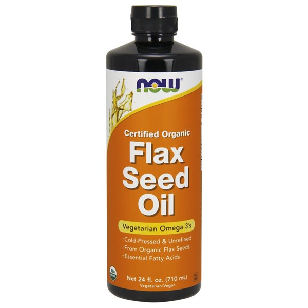 Organic Flax Seed Oil 24 oz by Now Foods