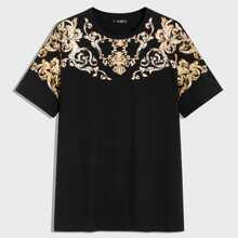Maenner T-Shirt mit Rollen Muster