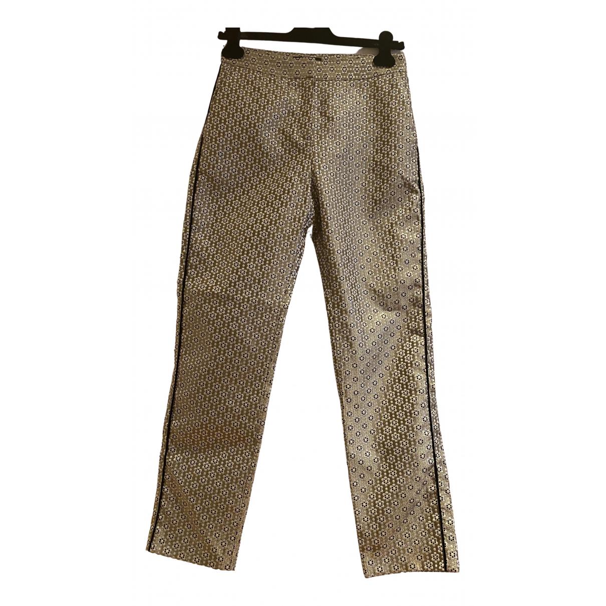 Maje Fall Winter 2019 Metallic Trousers for Women 36 FR