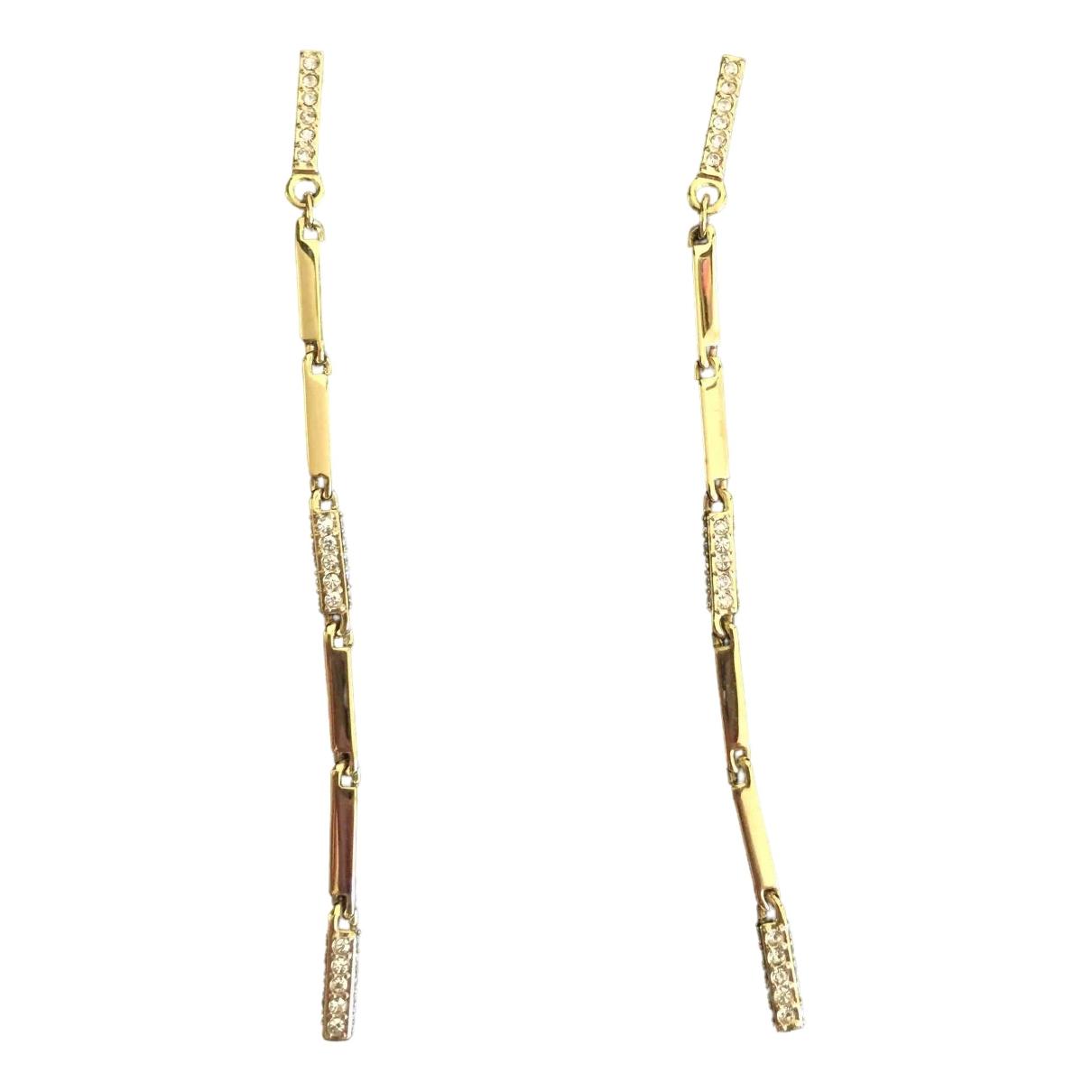 Swarovski - Boucles doreilles   pour femme en acier - dore