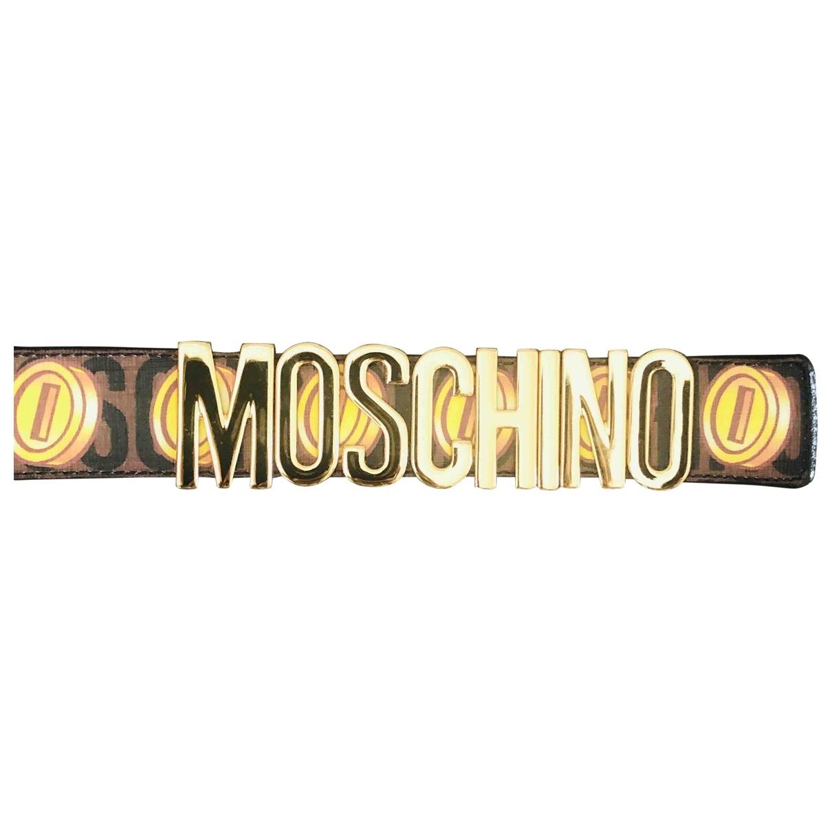 Moschino - Ceinture   pour femme en cuir - noir