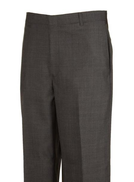 Harwick Clothing Manufacturers In America Plaid Flat Front Dress Pants