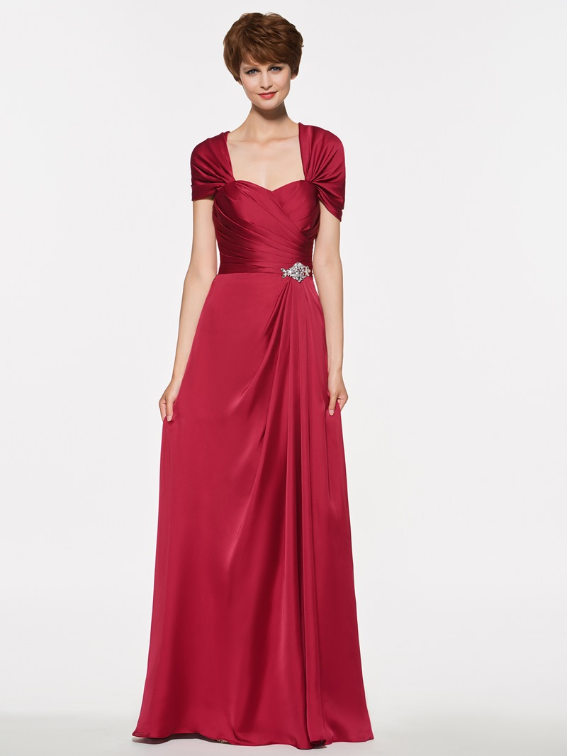 Ericdress A Line Beading Cap Sleeves Mother Of The Bride Dress