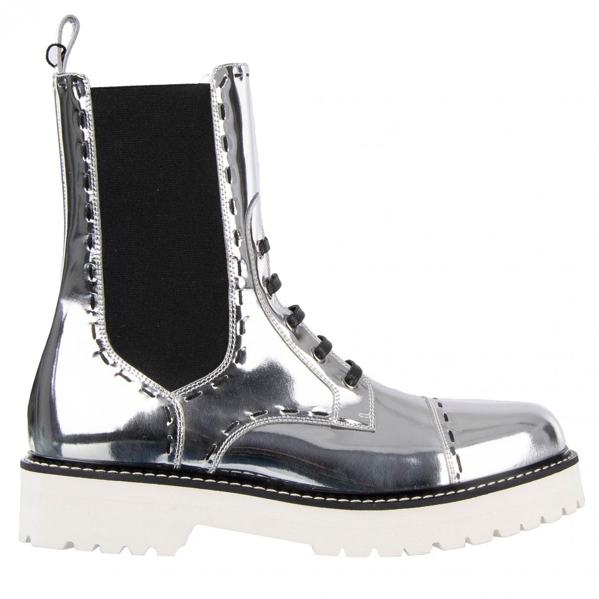 Dolce & Gabbana \N Stiefeletten in  Silber Lackleder