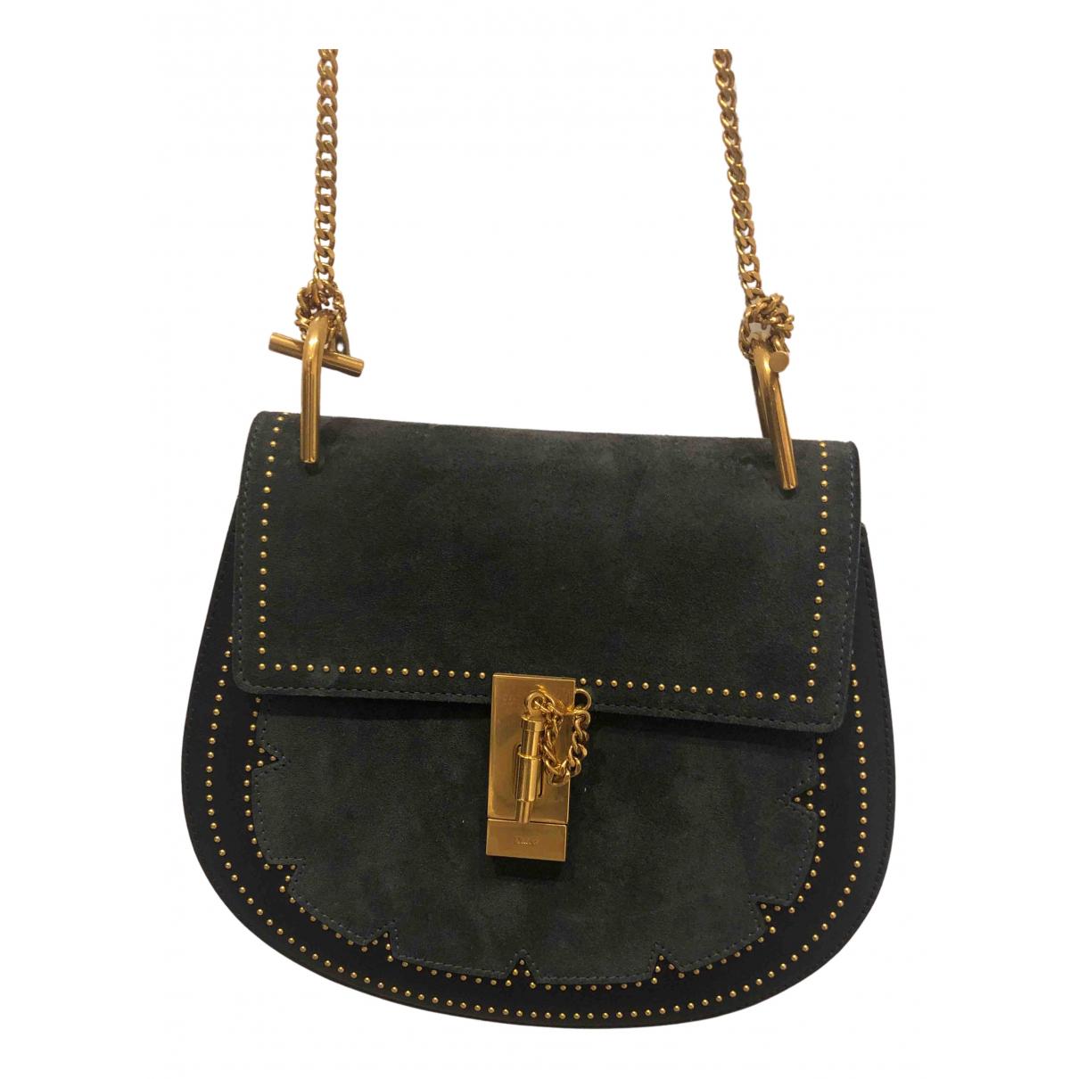 Chloé Drew Blue Suede handbag for Women N
