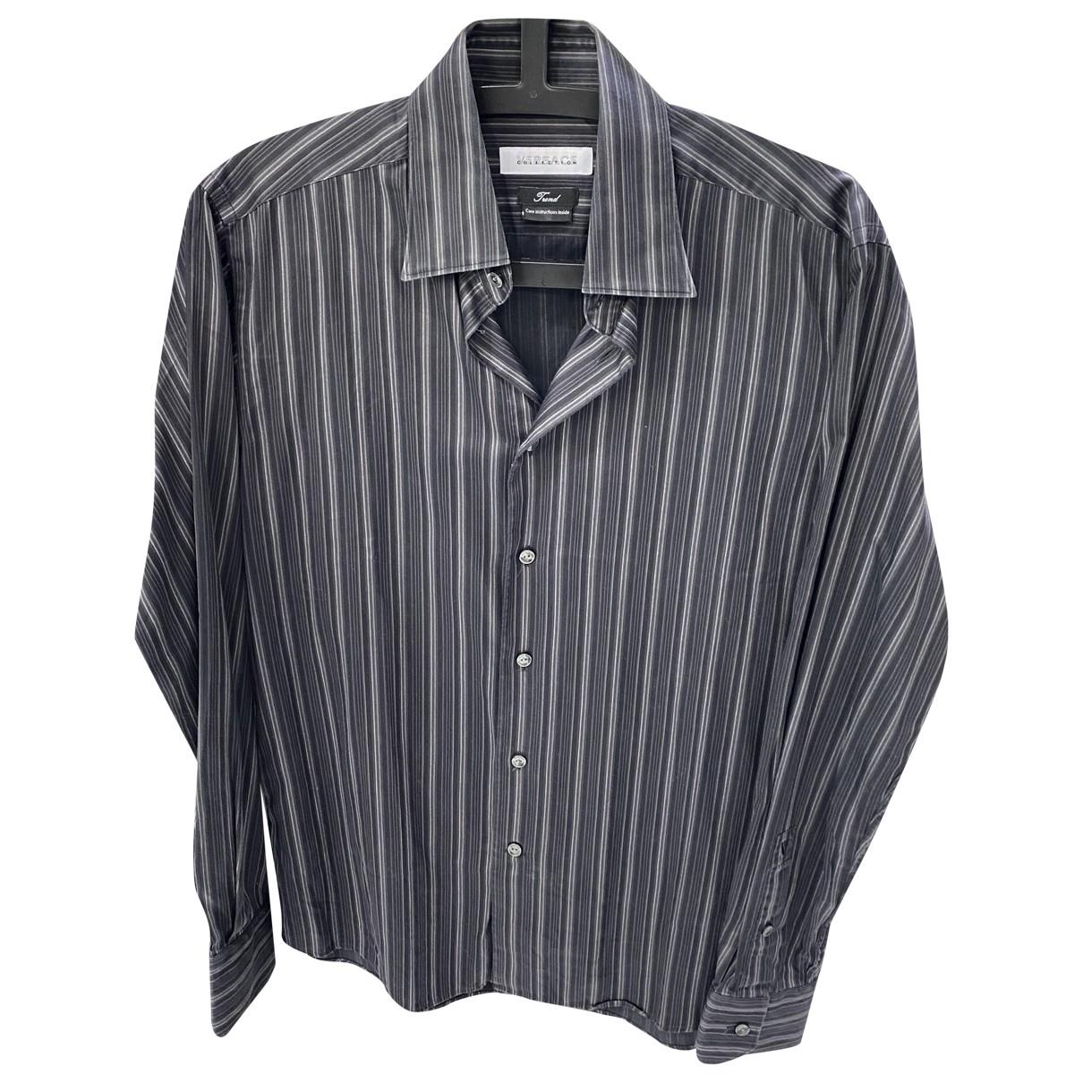 Versace \N Anthracite Cotton Shirts for Men M International