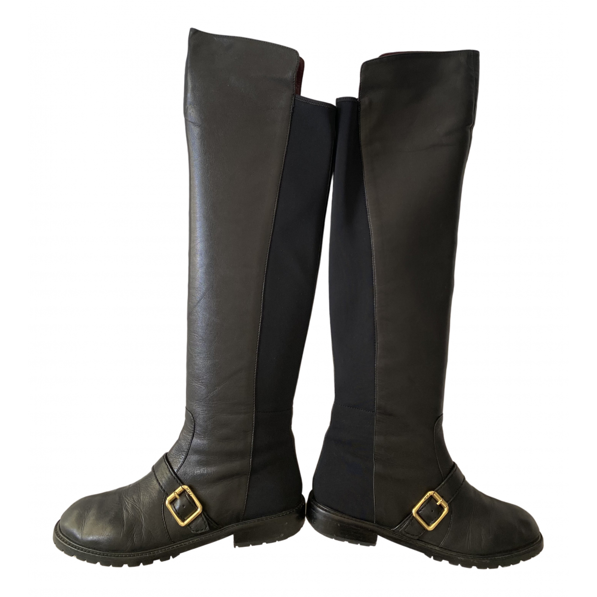 Marc By Marc Jacobs N Black Leather Boots for Women 39 EU