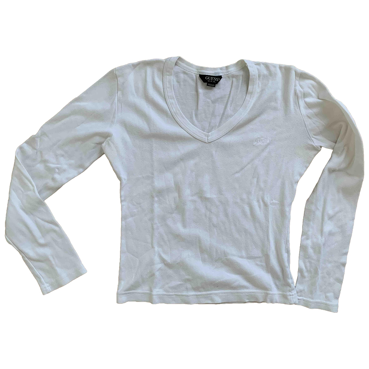 Guess \N White Cotton  top for Women 36 FR