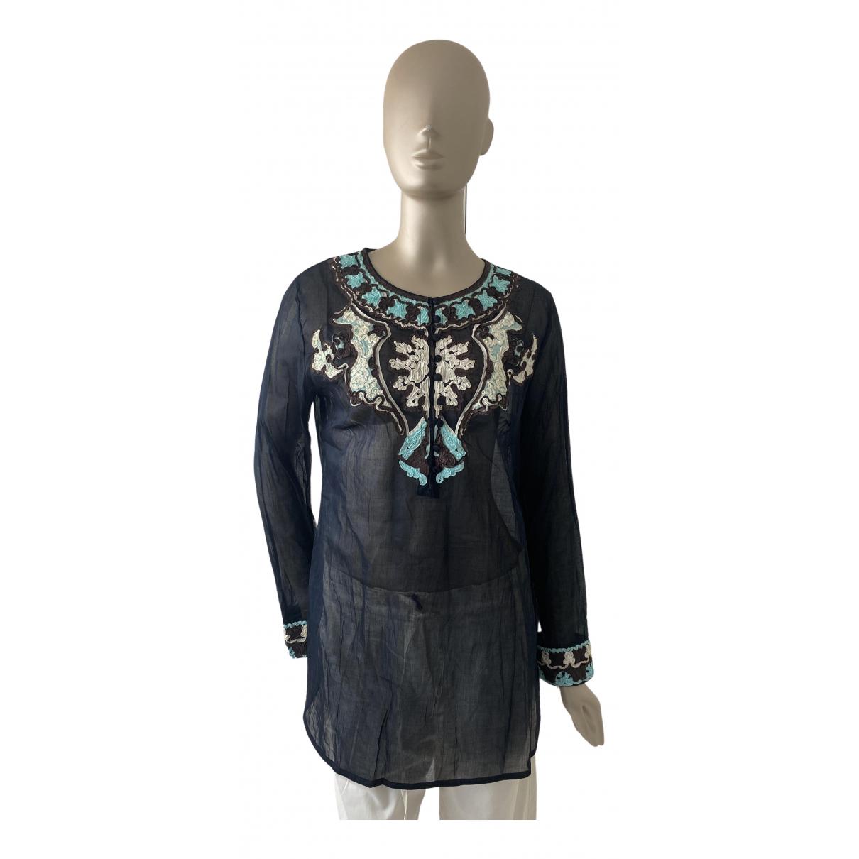 Ermanno Scervino \N Kleid in  Schwarz Baumwolle