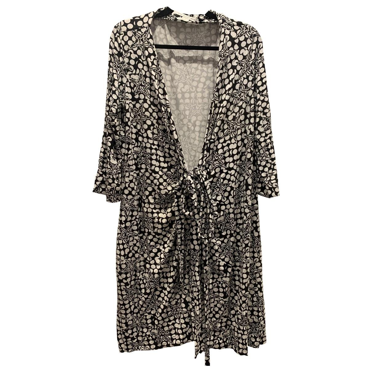 Diane Von Furstenberg \N Black Cotton - elasthane dress for Women 12 US