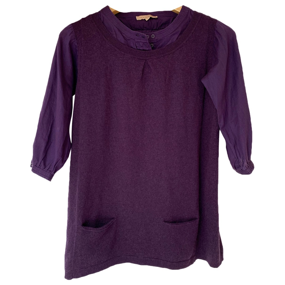 Sandro \N Purple Wool Knitwear for Women 1 0-5