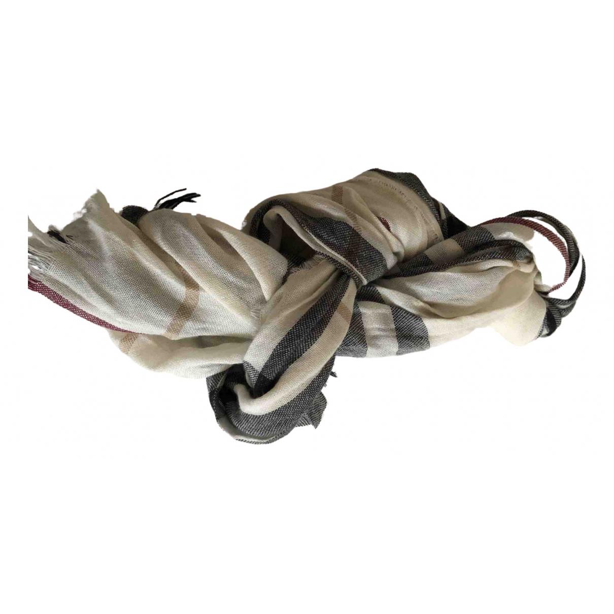 Burberry - Foulard   pour femme en cachemire - blanc