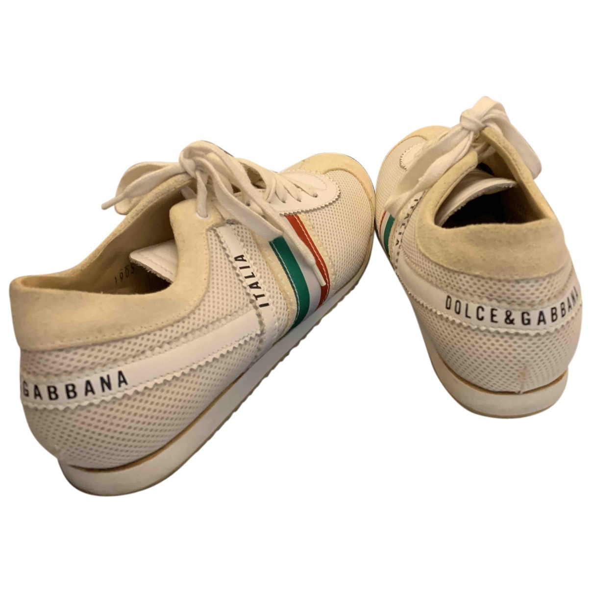 Dolce & Gabbana - Baskets   pour femme en suede - beige