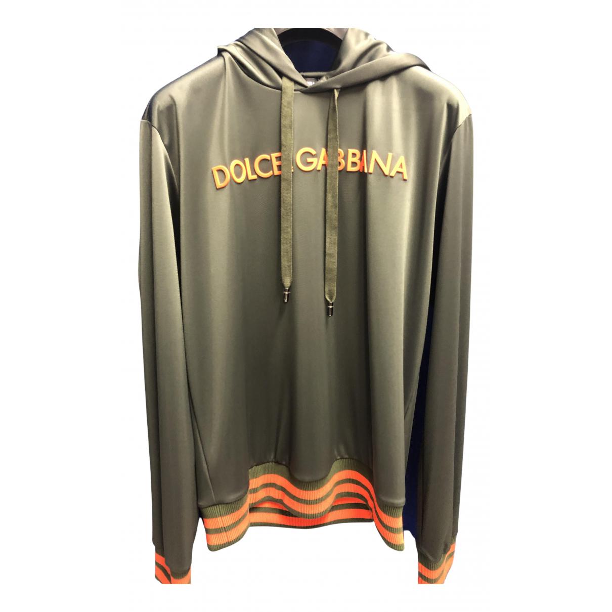 Dolce & Gabbana \N Pullover.Westen.Sweatshirts  in  Khaki Baumwolle