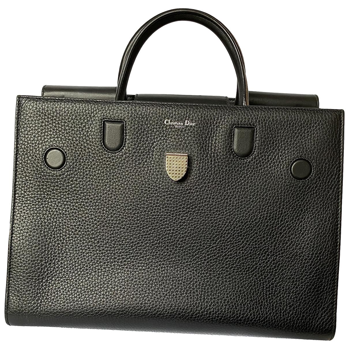 Dior Diorever Black Leather handbag for Women N