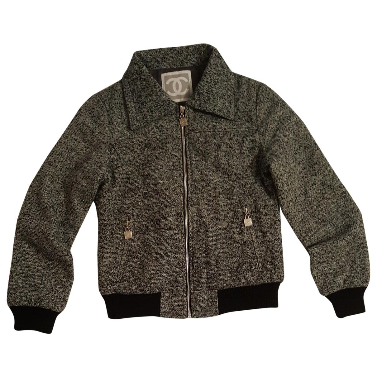 Chanel \N Jacke in  Grau Wolle