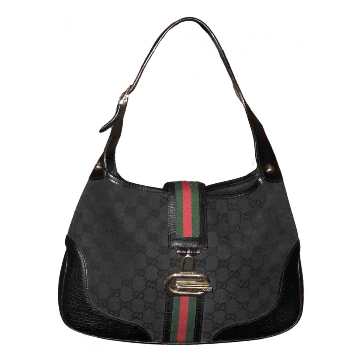 Gucci Jackie Vintage  Black Cloth handbag for Women N
