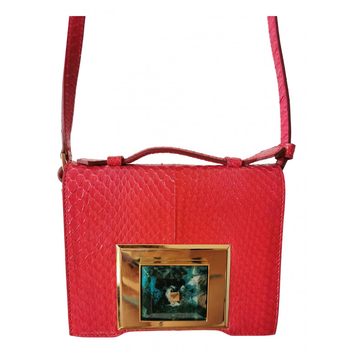 Andrew Gn \N Pink Water snake handbag for Women \N