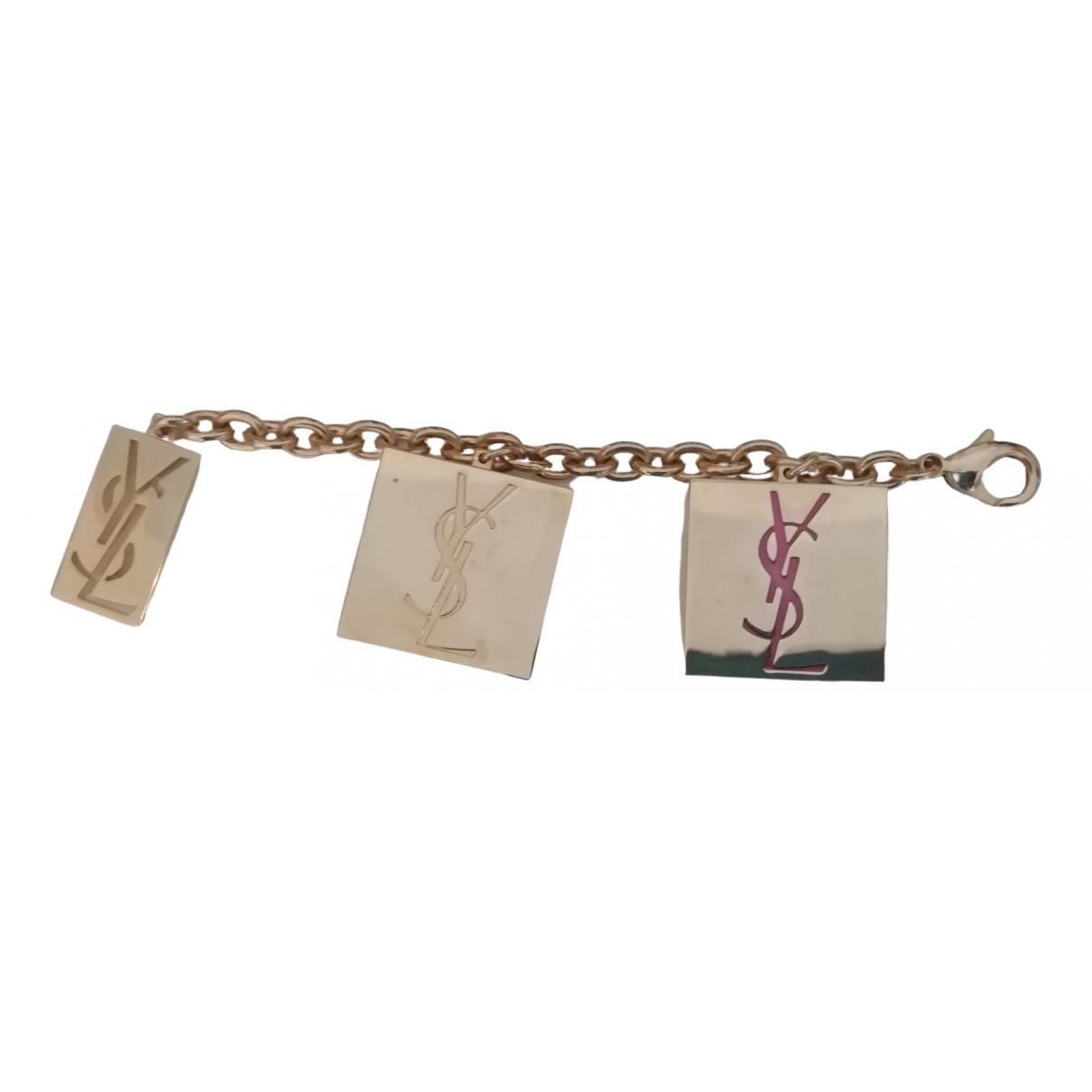 Yves Saint Laurent \N Gold Metal Bag charms for Women \N