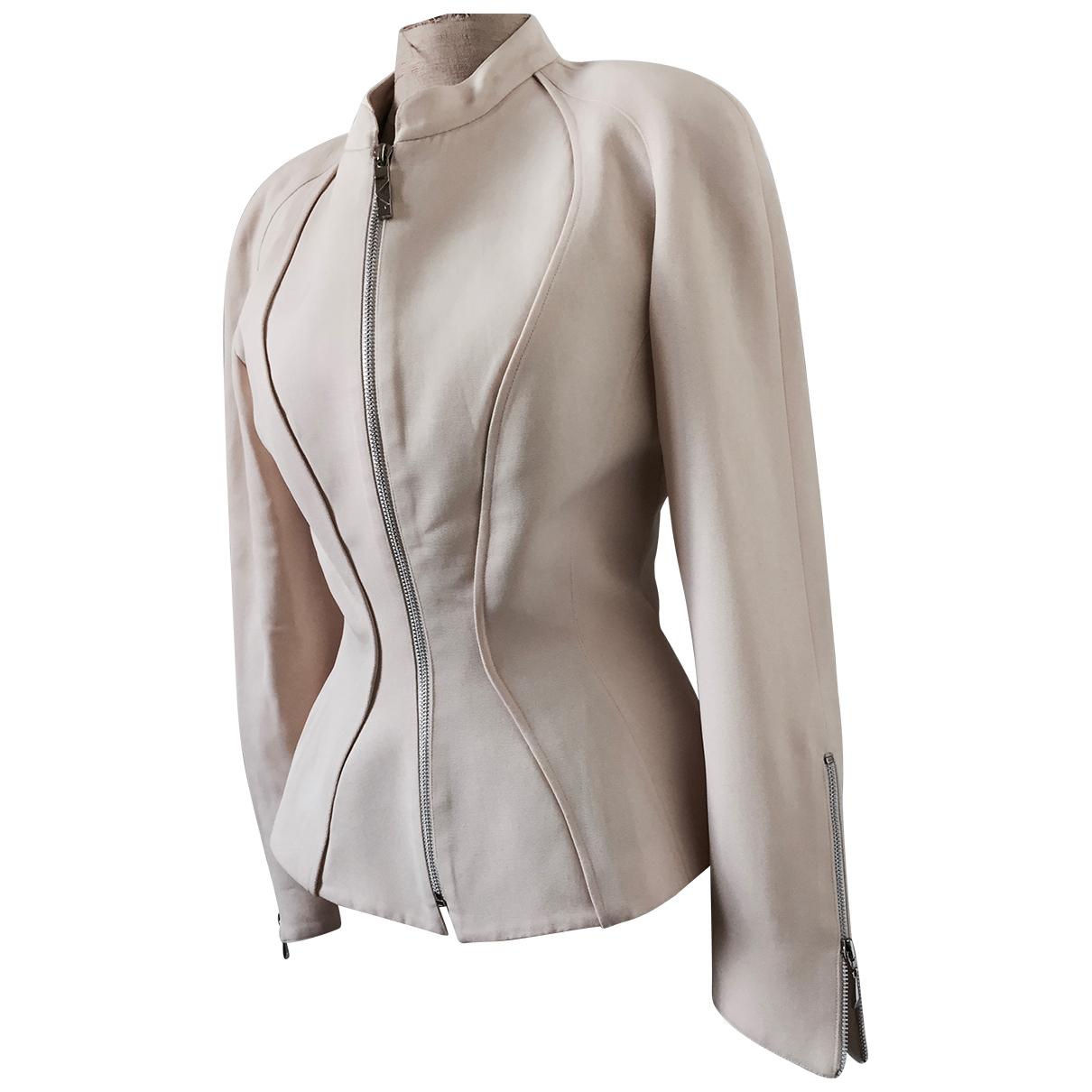 Mugler - Veste   pour femme en laine - blanc