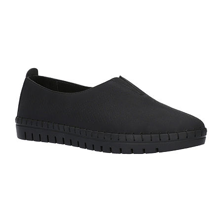 Easy Street Womens Jory Slip-On Shoe, 7 Medium, Black