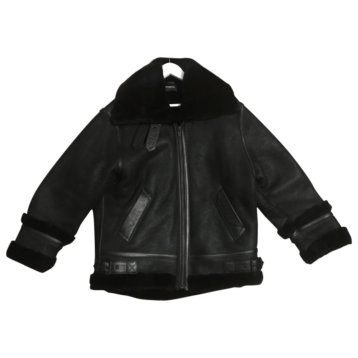 The Kooples Fall Winter 2019 Black Leather coat for Women 38 FR