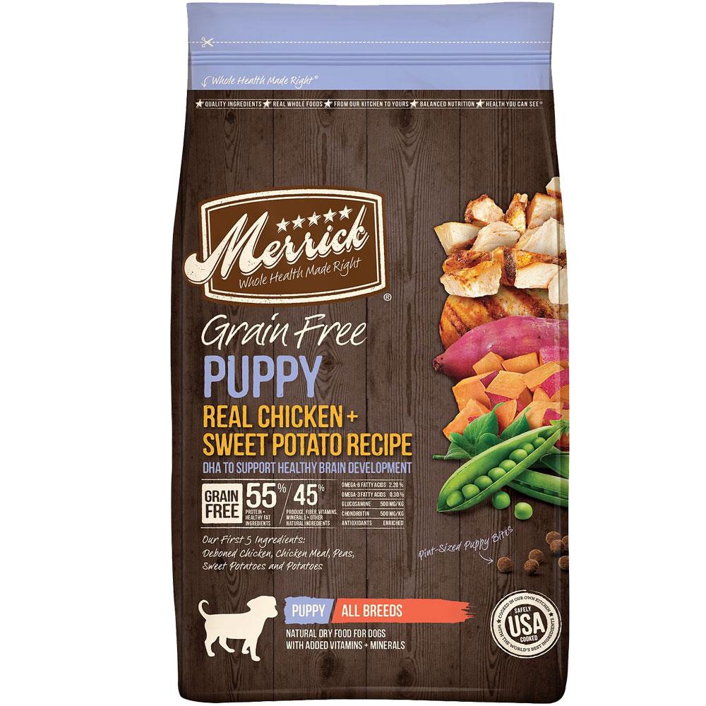 Merrick Grain Free - Puppy Chicken & Sweet Potato Recipe Dry Dog Food (25 lb)