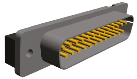 TE Connectivity Amplimite HDP-20 Series, 25 Way Through Hole PCB D-sub Connector Plug, 2.76mm Pitch