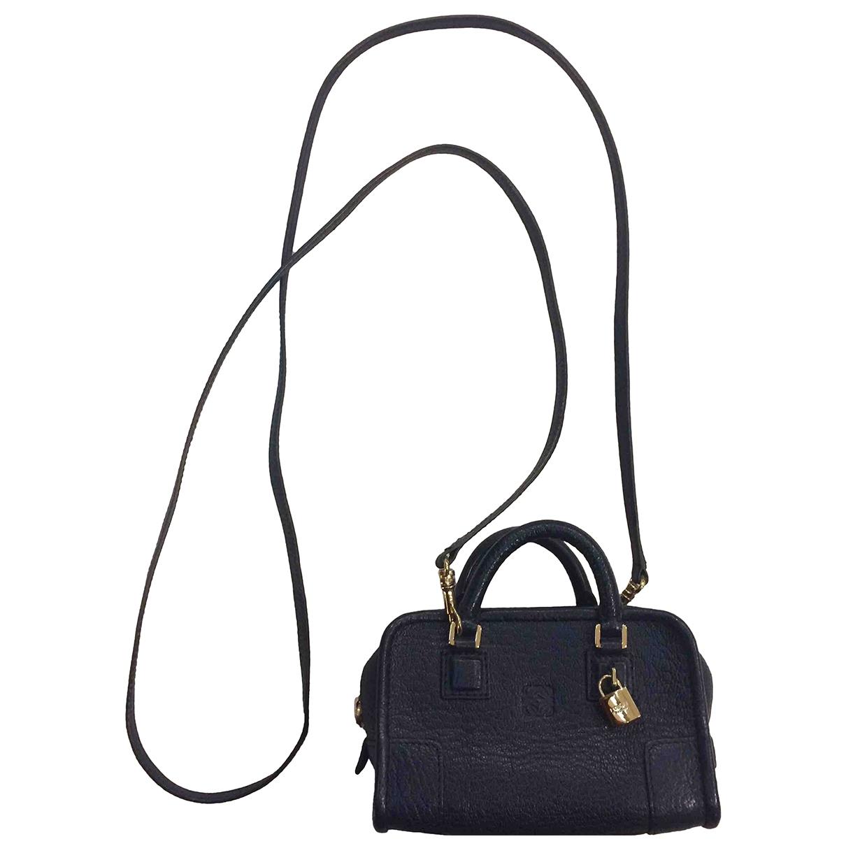 Loewe Amazona Navy Leather handbag for Women \N