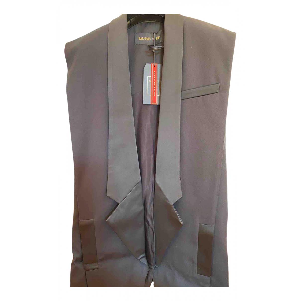 Balmain For H&m N Black Cotton jacket for Women 38 FR
