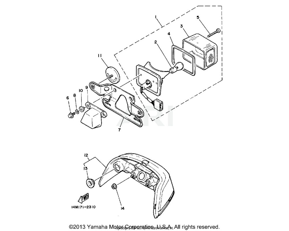 Yamaha OEM 1M1-84514-60-XX BULB 6VP21/5W(17904)