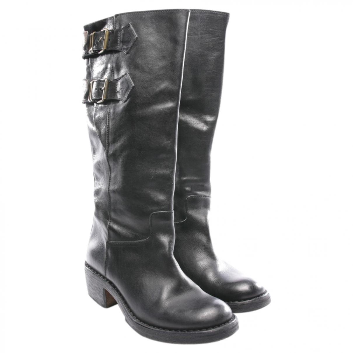 Moma \N Stiefel in  Braun Leder