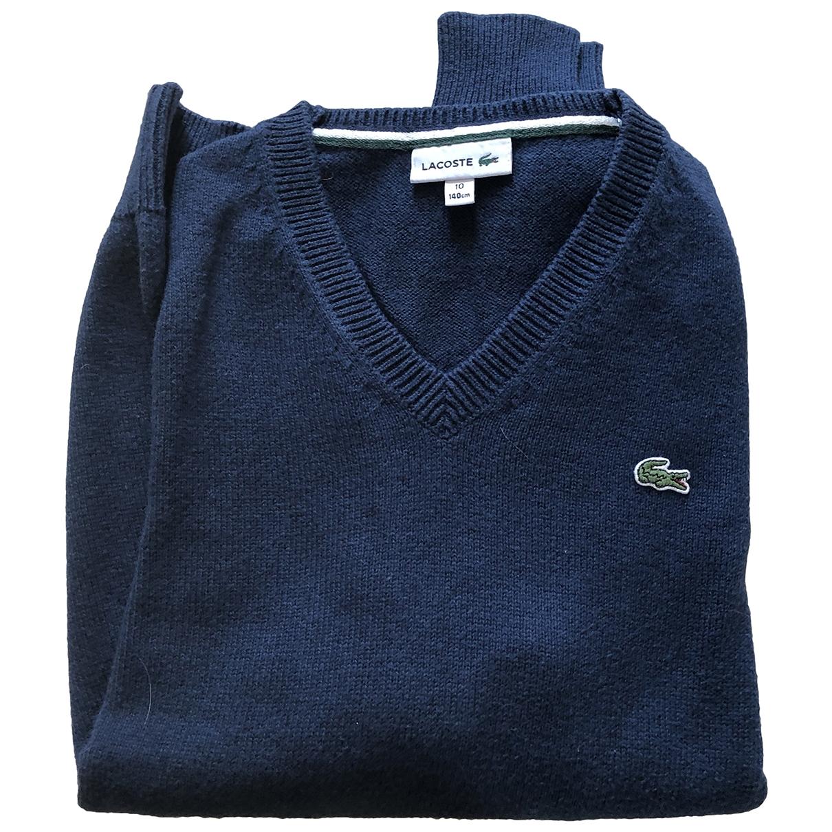 Lacoste - Pull   pour enfant en coton - marine