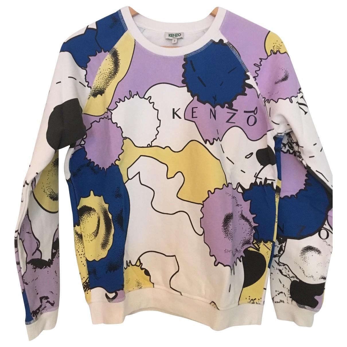 Kenzo - Pull   pour femme en coton - multicolore