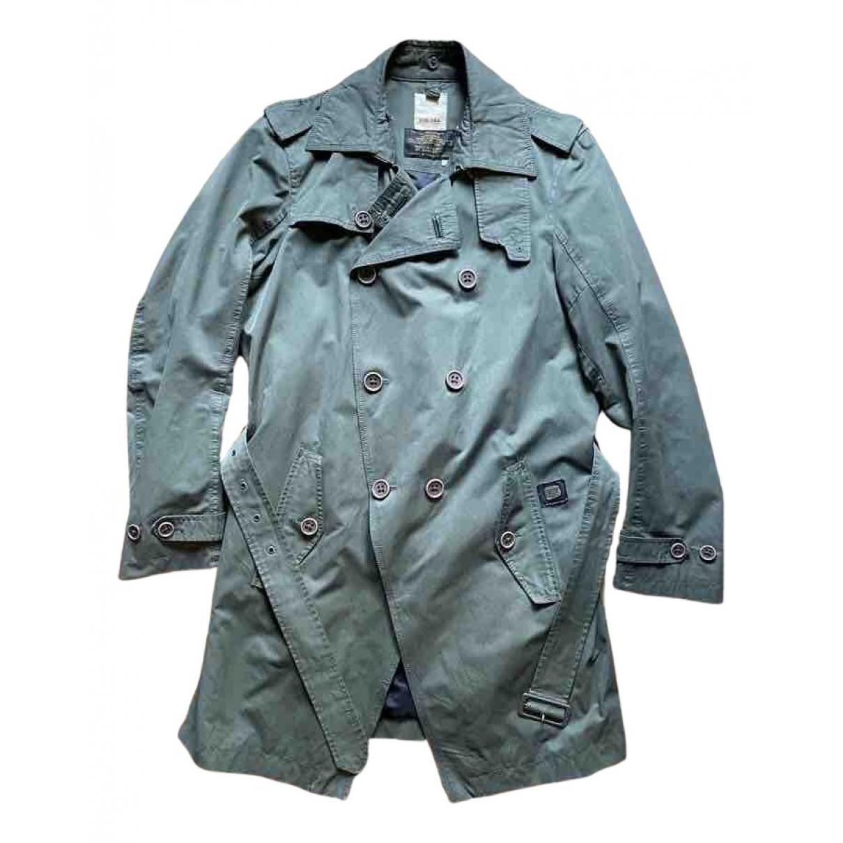 Diesel - Manteau   pour homme en coton - kaki