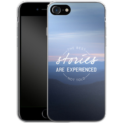 Apple iPhone 8 Silikon Handyhuelle - Stories von Statements