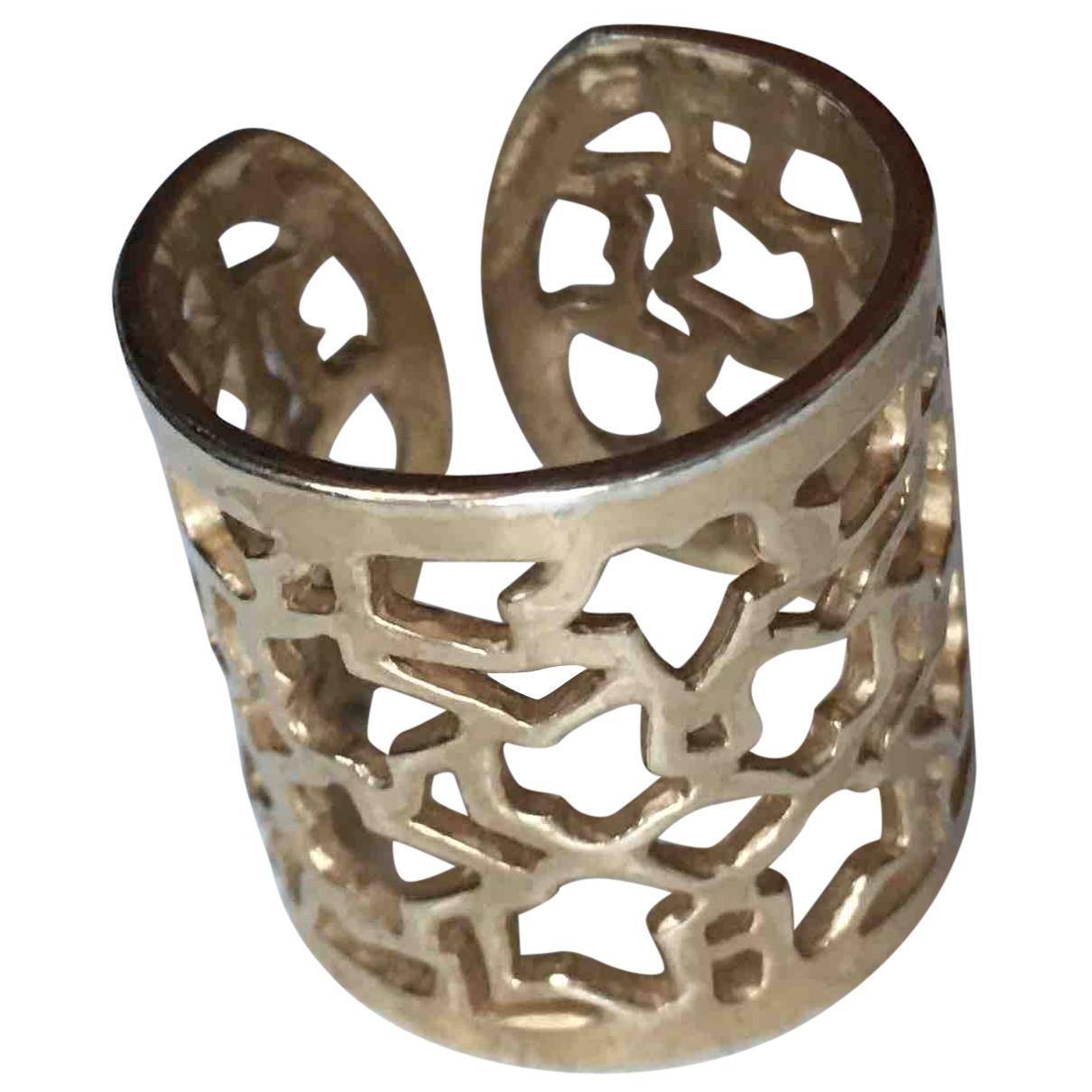 - Bague Motifs Floraux pour femme en acier - dore